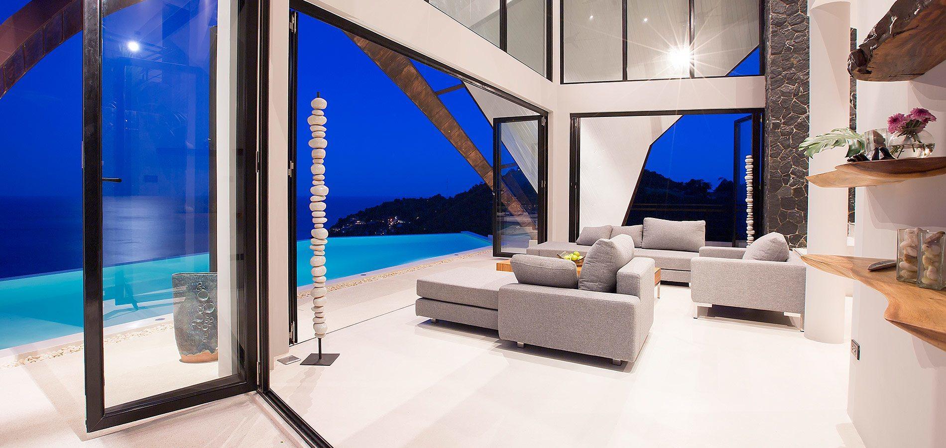 Lounge area at Villa Moon Shadow Samui