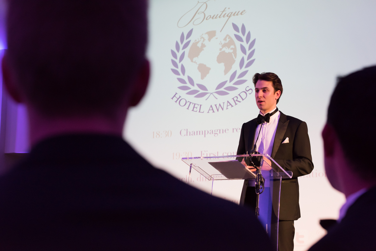 Ceremony of the World Boutique Hotel Awards 2015 in London where Villa Moonshadow won South East Asia's Best Honeymoon Award